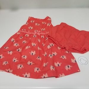 Carter's 12 Mo Dress and Diaper Cover